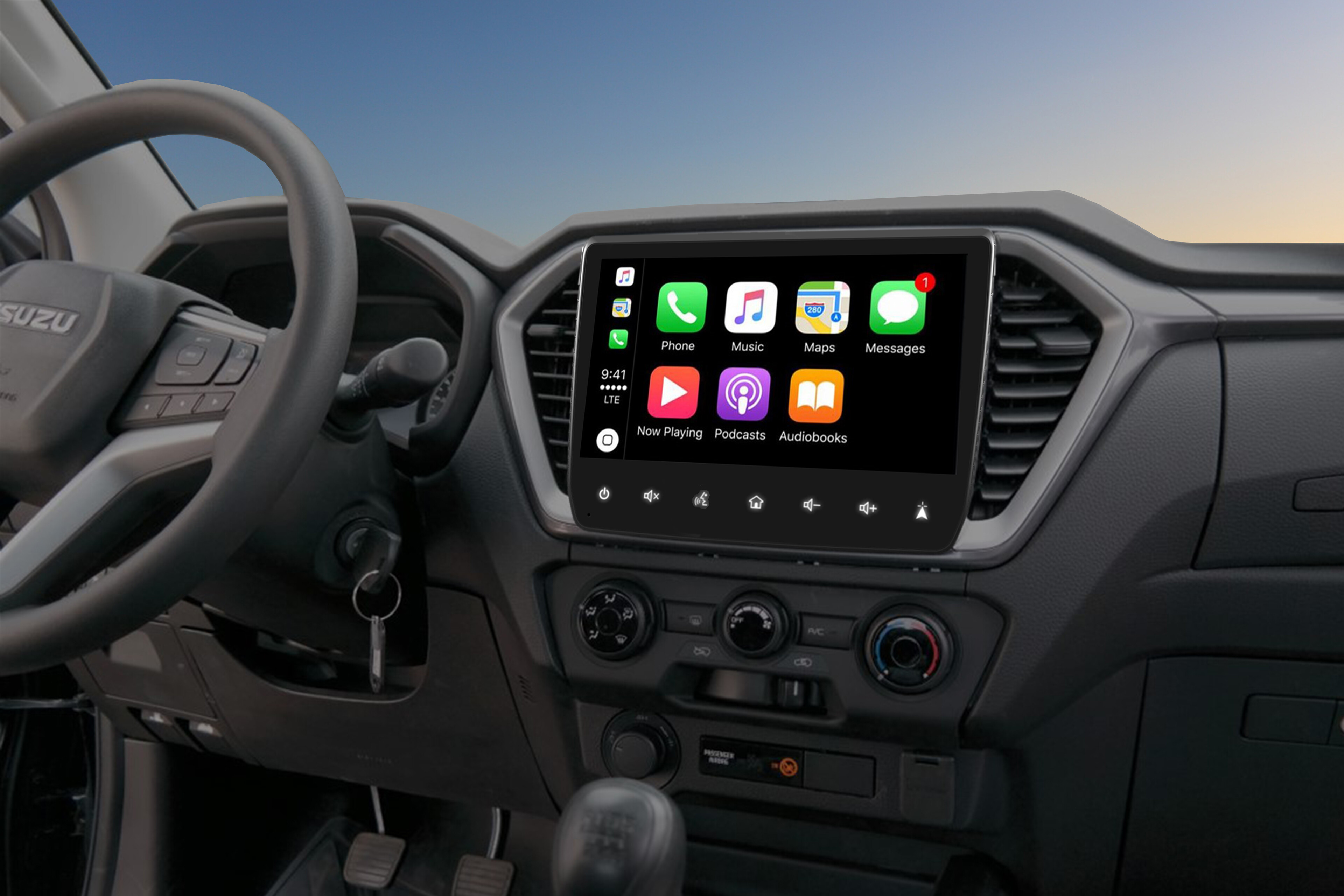 Isuzu D-MAX Zubehoer Interieur Navigation Map AppleCarPlay